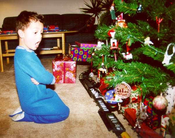 son nicky on christmas morning december 25 2001